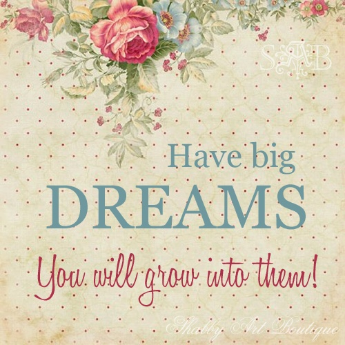 have big dreams