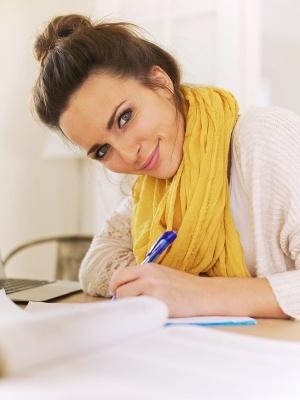 journaling woman